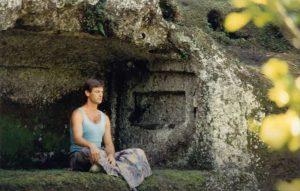 Younger Dr. Ron Stotts Meditating